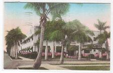 Royal Palm Hotel Hollywood Florida 1944 handcolored postcard