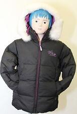 Giacca da bambina nera West Scout junior con cappuccio manica lunga invernale