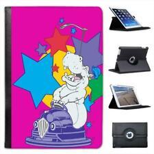 Hippo on Bumper Cars Dodge 'ems Folio Leather Case For iPad Mini & Retina