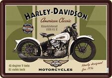Harley Davidson Knucklehead metal postcard / mini-sign  (na)