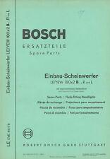 Bosch Ersatzteil-Liste Einbau-Scheinwerfer LE/YEW 7/61