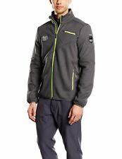 Spyder Men's Wengen Full Zip Jacket, Polar/Bryte Yellow