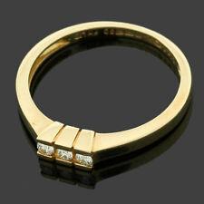 18ct Yellow Gold Diamond Trilogy Ring - Gift Box - Birthday, Her