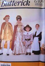 6305 UNCUT Vintage Butterick SEWING Pattern Pilgrim Squire Lady Costumes FF OOP