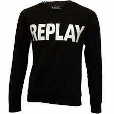 Replay Bold Logo Men's Sweatshirt, Black