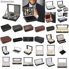 Watch Jewelry Display Box 1-12 Slots Bracelet Necklace Storage Case Organizer