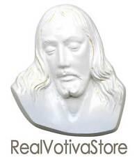Targa Cristo in bronzo colore bianco