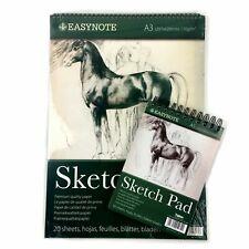 A4/A3 Sketch Pad Book Artist Drawing Book Spiral Bound Hard Back