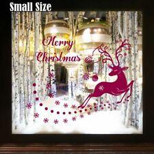 Palla di Natale & Fiocco di Neve Cervo Adesivo Vinile Muro Decalcomania Decorazione Vetrina