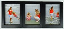 4x5 4x6 5x7 8x10 Matte Black Wood Picture Photo Frame Triple Hinged New