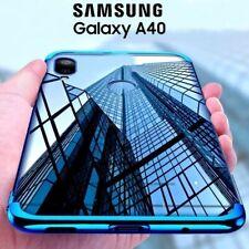 COVER per Samsung Galaxy A40 CUSTODIA ELECTROPLATING + PELLICOLA VETRO TEMPERATO