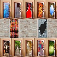 3D Door Wall Fridge Stickers Self Adhesive Decals Murals Home Art Decor