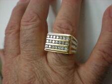 MENS 10K 2/TONE 21-DIAMOND 1.00CTW RING,7.5GR
