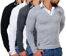 Carisma Herren double doppel Look Optik Longsleeve langarm Shirt Hemd slim fit