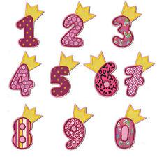 Zahl mit Krone zum aufbügeln ein Aufnäher #30 PP# Neu Applikation Geburtstag