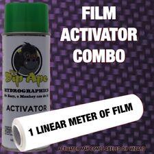 CANDIED DARK PURPLE CARBON WEAVE DIP APE ACTIVATOR FILM COMBO WATER TRANSFER