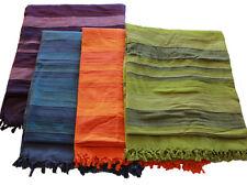 Natural Cotton Handmade Throws - 205 x 236cm [Purple, Blue, Orange, Green]