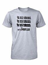 AproJes I'm Not Ashamed Of Jesus Unashamed Shirt Christian T-Shirt for Men