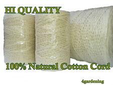 Garten Schnur Baumwolle Horticultural Ball Line packthread 100% natürlich