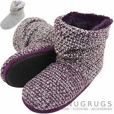 Para damas/mujeres de punto zapatillas estilo Botas/Botín con función de botón