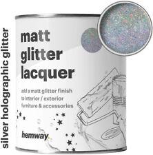 Hemway Glitter Clear Matt Varnish Lacquer Sparkling Interior Exterior Use