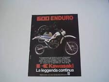 advertising Pubblicità 1984 MOTO KAWASAKI KLR 600