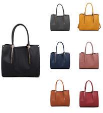 New Womens Large Faux Leather Handbag Crossbody Messenger Shopper Shoulder Bag