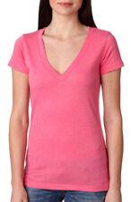 Next Level Women's Soft Tri Blend Rib Knit Deep V Neck T-Shirt, 3-Pack. 6740