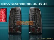 99-02 CHEVY SILVERADO/GMC SIERRA LED TAIL LIGHTS SMOKE 1500/2500 NEW