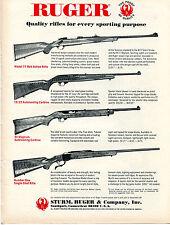 1971 Print Ad of Sturm Ruger Rifle Models 77 10/22 44 Magnum & Number One