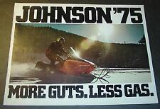 1975 JOHNSON SNOWMOBILE SALES BROCHURE 12 PAGE