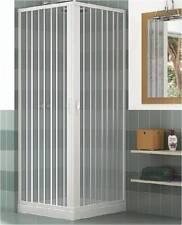 Mampara ducha en PVC con apertura angular con dos puertas plegables 70x70 cm ecc