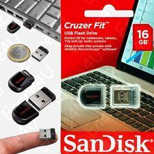 Clé USB 16 Go Gb SANDISK modèle Cruzer Fit - Disponible aussi en 32 ou 64 Giga