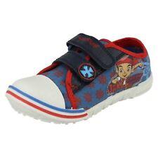 Niños Disney Jake Tesoro Azul Lona CIERRE ADHESIVO Zapato