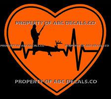 VRS HEARTBEAT Heart HUNTING HUNTER Rifle Gun Ammo Buck Deer Shot CAR VINYL DECAL