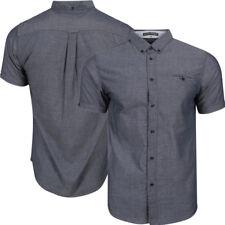 New Mens Tokyo Laundry Harlow Short Sleeve Cotton Chambray Shirt Size S-XXL