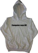 Computer dice no Kids Felpa Con Cappuccio Felpa