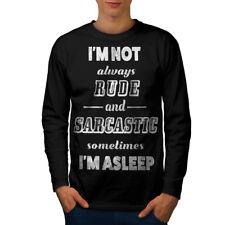 Not Rude Sarcastic Slogan Men Long Sleeve T-shirt NEW | Wellcoda