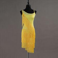 Latin Dance Dress Salsa Tango Cha cha Ballroom Rhinestone Competition Dress 380