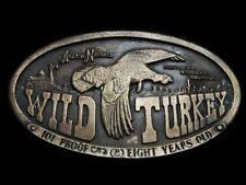 MJ29125 VINTAGE 1974 **WILD TURKEY BOURBON** BOOZE BELT BUCKLE