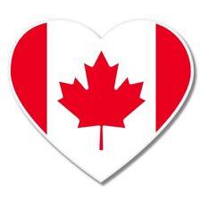 Canada Flag Heart Car Laptop Phone Vinyl Sticker  - SELECT SIZE