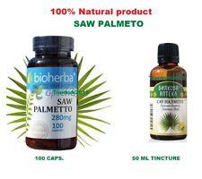 SAW PALMETTO 100 caps,Tinkture 50ml,100%Natural , Male health,Prostate,Libido