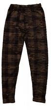 Damen Leggings Cut Out Braun Grün Riss Style Camouflage Loch Leggings Transparen