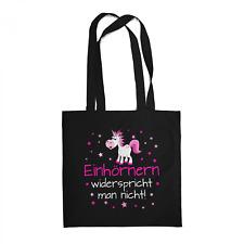 Einhörnern widerspricht man nicht Beutel Tasche Spruch Unicorn Einhorn Geschenk