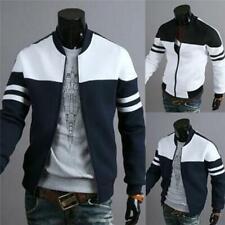 Men Fashion Casual Jacket Baseball Coat Slim Outwear Overcoat D
