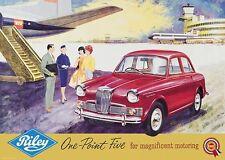 "Riley 1.5 ""avion"" Classic Car Poster Affiche Photo A1 (plus PATHFINDER)"