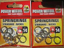 16 x Springringe 14 - 15mm Sprengring für Wobbler Blinker Spinner Süsswasser