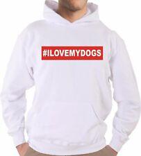 Felpa Con Cappuccio KJ2023 I Love My Dogs Cane Pet Animalista