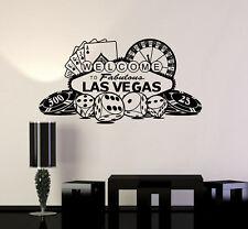Vinyl Wall Decal Las Vegas Casino Roulette Gambling Gambler Mural (ig5058)