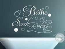 Cuarto De Baño Pegatinas De Pared Decoración de vinilo de cotización de Baño de remojo Relax Calcomanía Con Burbujas